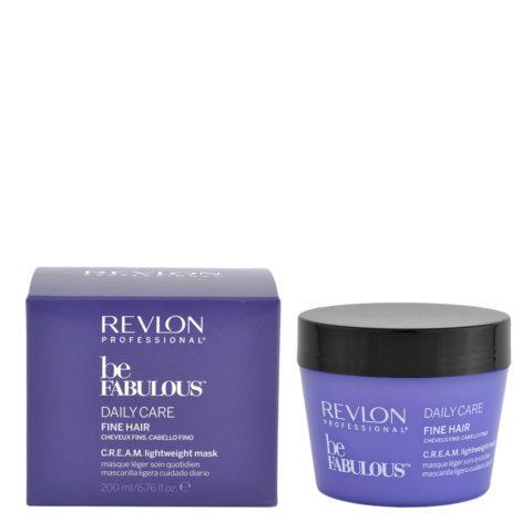 Revlon Be Fabulous Daily Care Fine Cream Mask 200ml - light hair thin mask