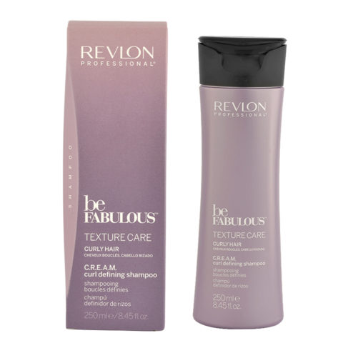 Revlon Be Fabulous Curly hair Cream Curl defining Shampoo 250ml - shampoo definition curly hair