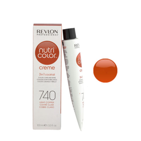 Revlon Nutri Color Creme 740 Light copper 100ml - color mask