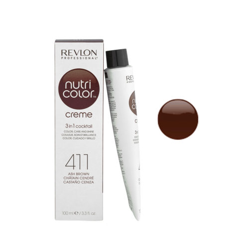 Revlon Nutri Color Creme 411 Ash brown 100ml - color mask