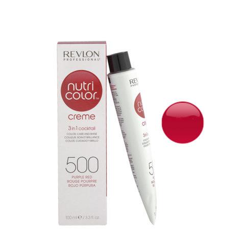 Revlon Nutri Color Creme 500 Purple red 100ml - color mask