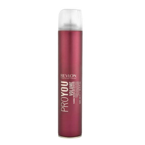 Revlon Pro You Volume Normal hold Hair Spray 500ml - medium hold hairspray