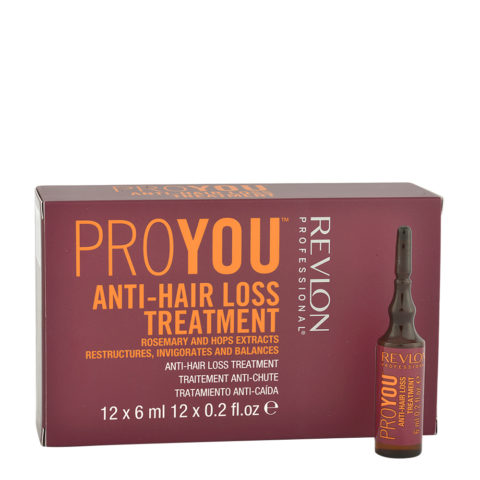 Revlon Pro You Anti-Hair Loss Treatment 12x6ml - anti-fall vials