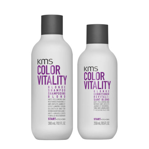 KMS Color Vitality Blonde Shampoo 300ml Conditioner 250ml - Anti Yellow