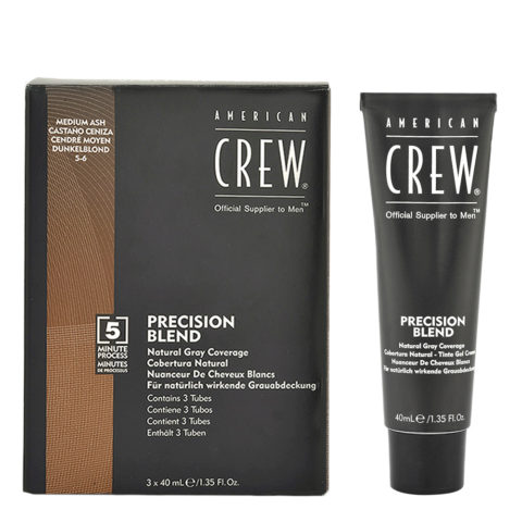 American Crew Classic Precision Blend 5-6 medium ash brown 3x40ml