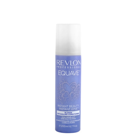 Revlon Equave Blonde Detangling Conditioner 200ml - anti-light spray balm blonde and gray hair