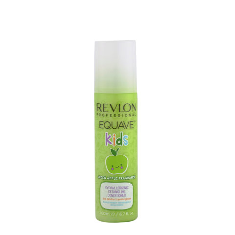 Revlon Equave Kids Green Apple Hypoallergenic Detangling conditioner 200ml - Hypoallergenic children's balsam spray