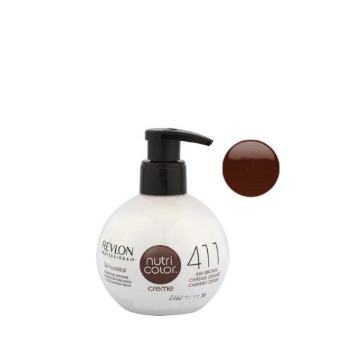 Revlon Nutri Color Creme 411 Ash brown 270ml - color mask