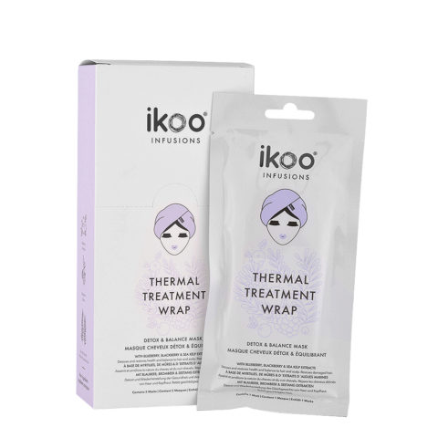 Ikoo Thermal treatment wrap Detox & balance mask 5x35g - purifying balancing mask