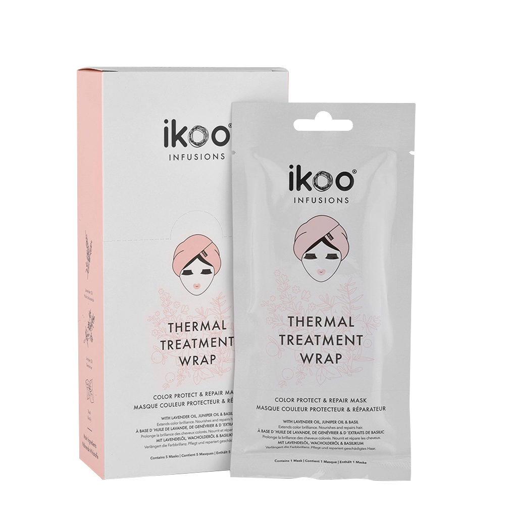Ikoo Thermal treatment wrap Color protect & repair 5x35g - restructuring mask colored hair