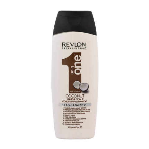 Uniq One Coconut Hair and scalp Conditioning shampoo 300ml - sulfate free
