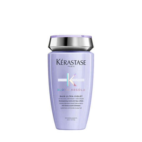 Kerastase Blond Absolu Bain ultra violet 250ml - anti yellow shampoo for blonde or grey hair