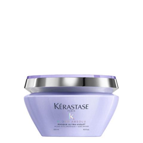 Kerastase Blond Absolu Masque ultra violet 200ml - anti yellow mask for blonde or grey hair