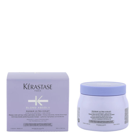 Kerastase Blond Absolu Masque ultra violet 500ml - anti yellow mask for blonde or grey hair
