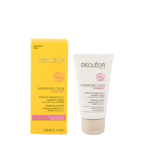 Decléor Harmonie Calm organic Creme & masque 2en1, 50ml - soothing comfort cream & mask