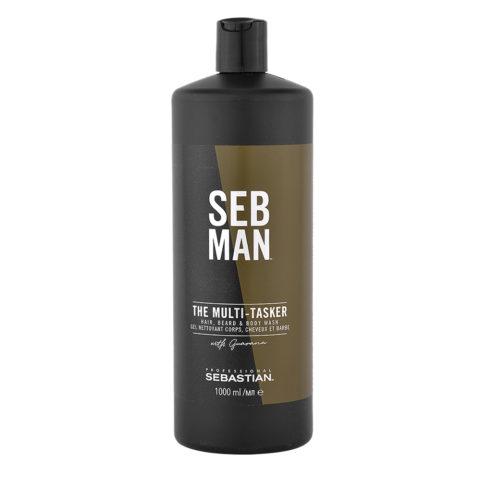 Sebastian Man The Multitasker Hair Beard & Body Wash 1000ml - 3 in 1 Shampoo