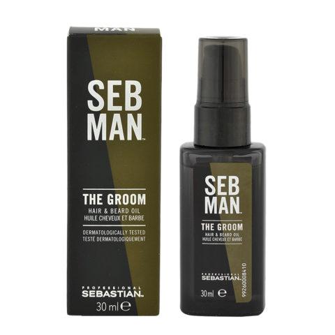 Sebastian Man The Groom Hair & Beard Oil 30ml - Aceite Cabello y Barba
