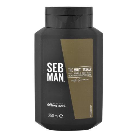 Sebastian Man The Multitasker Hair Beard & Body Wash 250ml - 3 in 1 Shampoo