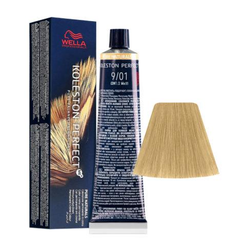 9/01 Very Light Blonde Natural Ash Wella Koleston perfect Me+ Pure Naturals 60ml