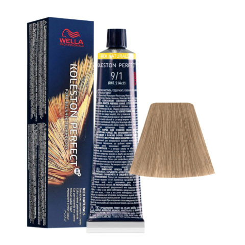 9/1 Very Light Blonde Ash Wella Koleston perfect Me+ Rich Naturals 60ml