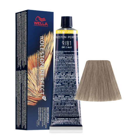 9/81 Very Light Blonde Pearl Ash Wella Koleston perfect Me+ Rich Naturals 60ml
