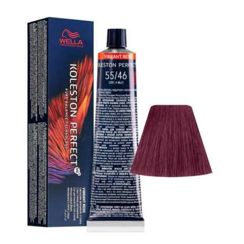 55/46 Light Brown Intensive Red Violet Wella Koleston perfect Me+ Vibrant Reds 60ml