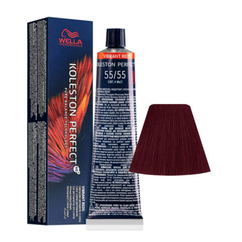 55/55 Light Brown Intensive Mahogany Intensive Wella Koleston perfect Me+ Vibrant Reds 60ml