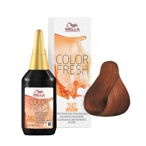 7/47 Medium red brunette brown Wella Color fresh 75ml