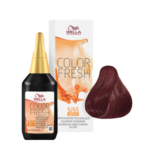 5/55 Light intensive mahogany brown Wella Color fresh 75ml