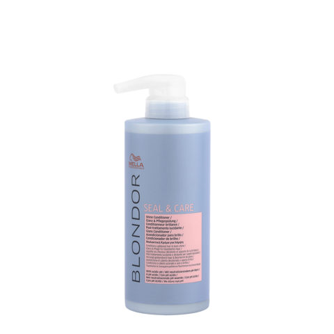 Wella Blonde Seal and Care Shine Conditioner 500ml - Post - Decoloration Illuminating Conditioner