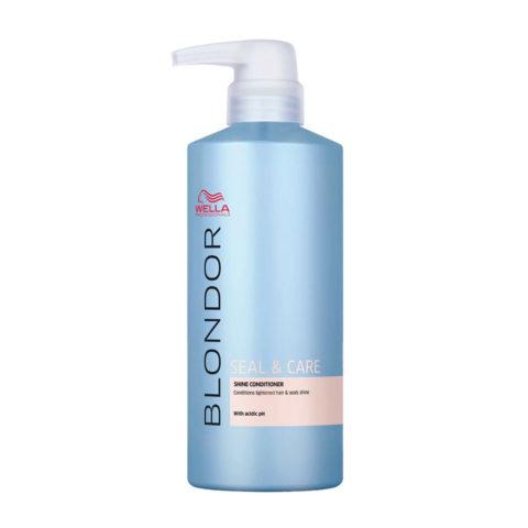 Wella Blonde Seal and Care Shine Conditioner 500ml - Post - Decoloration Illuminating Conditioner