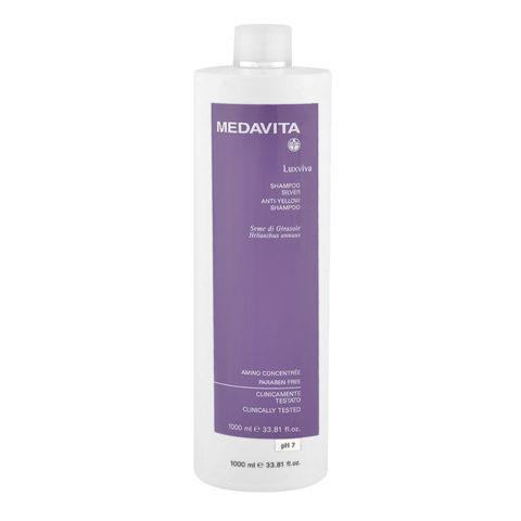 Medavita Lenghts Luxviva Anti-yellow shampoo pH 7,  1000ml