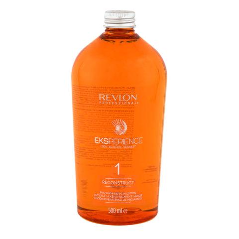 Eksperience Reconstruct Pre Wash Keratin Lotion Phase 1, 500ml - Pre Shampoo