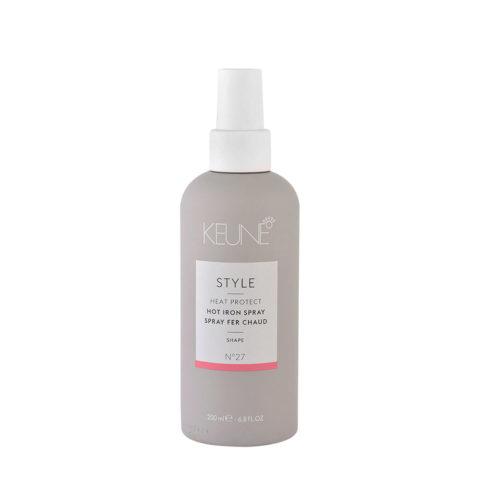 Keune Style Heat protect Hot Iron Spray N.27, 200ml - heat protection spray
