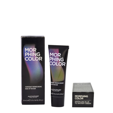 Alfaparf Morphing Color Sparkling blue to watery green 30ml - makeup for hair from sparkling blue to watery green