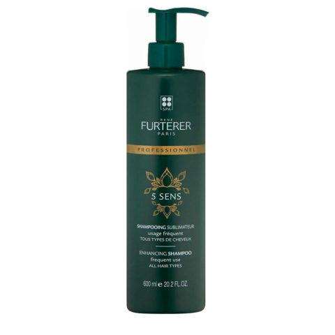 René Furterer 5 Sens Enhancing Shampoo 600ml - frequent use all hair types