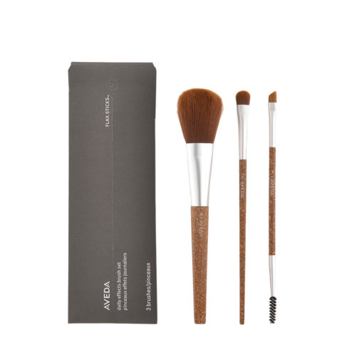 Aveda Flax Sticks Daily Effect Brush Set n 2 Eye Color n 7 Brow and Lashes n 9 Blush