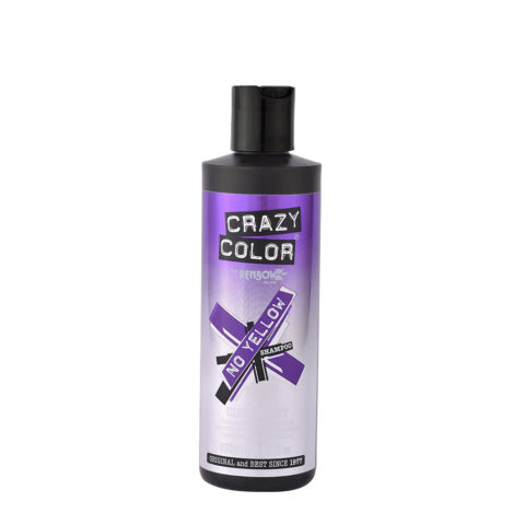 Crazy Color No Yellow Shampoo Ultraviolet 250ml - anti - yellow shampoo