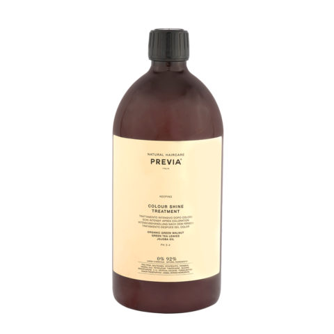 Previa Keeping Organic Green walnut colour shine Treatment 1000ml - coloured hair