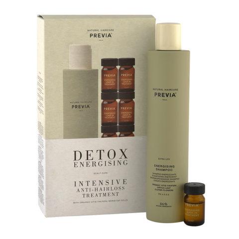 Previa Extralife Detox Energising Intensive Antihairloss Treatment Shampoo 250ml + 12 Vials