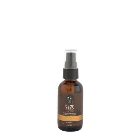 Marrakesh Hemp Seed Hair Styling Elixir 60ml - hydrating natural hair oil