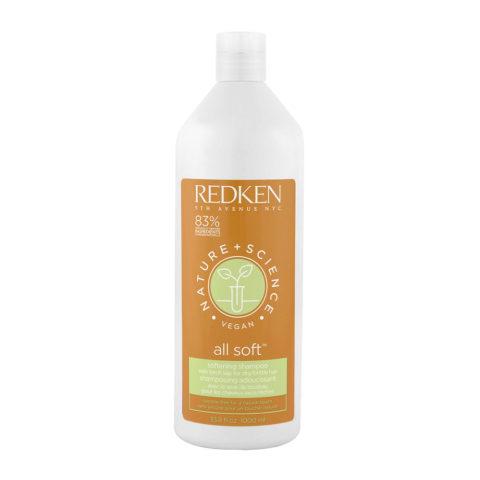 Redken Nature + Science All Soft Softening Shampoo 1000ml - hydrating Shampoo