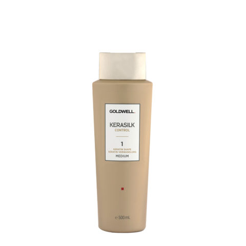 Goldwell Kerasilk Control 1 Keratin Shape Medium 500ml - Smoothing Treatment