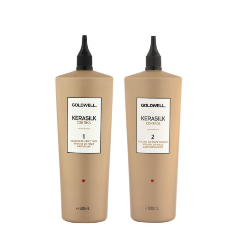 Goldwell Kerasilk Control Keratin De Frizz Kit 1 Tame 500ml 2 Smooth 500ml