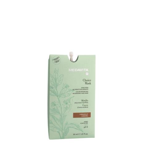 Medavita Lunghezze Choice Mask Caramel 30ml  - Color Enhancing Nourishing Mask