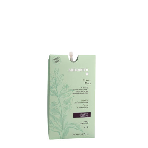 Medavita Lunghezze Choice Mask Aubergine 30ml - Color Enhancing Nourishing Mask