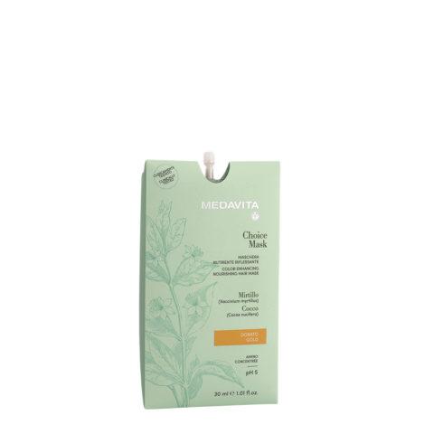 Medavita Lunghezze Choice Mask Gold 30ml - Enhancing Nourishing Mask