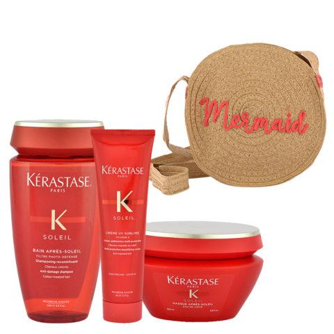 Kerastase Soleil Kit Shampoo 250ml Creme UV Sublime 150ml Masque 200ml - free gift bag
