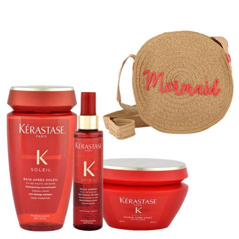 Kerastase Soleil Kit Shampoo 250ml Huile Sirene 150ml Masque 200ml - free gift bag