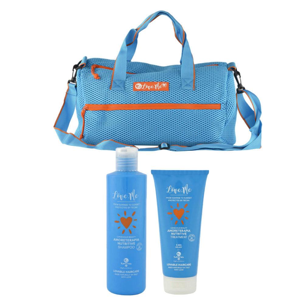 Tecna Sun Amoreterapia Shampoo 250ml Treatment 200ml free beach bag